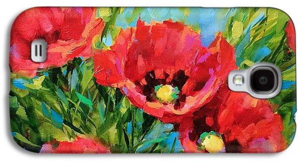 Poppy Tango Galaxy S4 Case by Nancy Medina