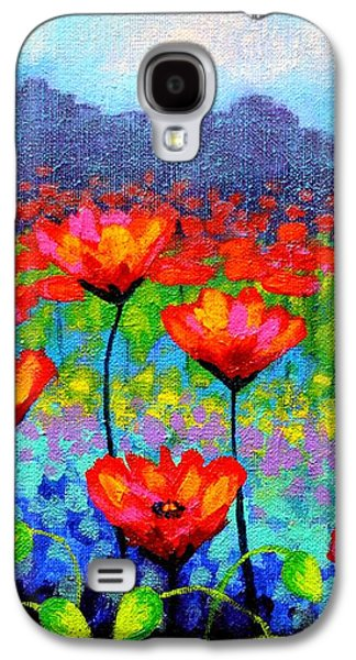 Poppy Vista Galaxy S4 Case by John  Nolan