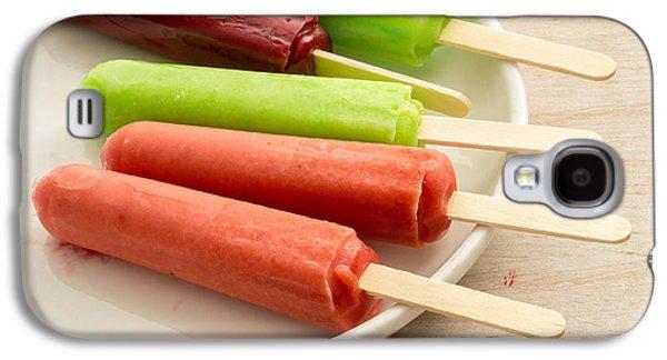 Popsicles Ice Cream Frozen Treat Galaxy S4 Case by Edward Fielding