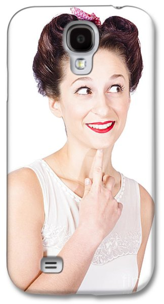 Portrait Of A Lovely Retro Woman With Clear Skin Galaxy S4 Case by Jorgo Photography - Wall Art Gallery