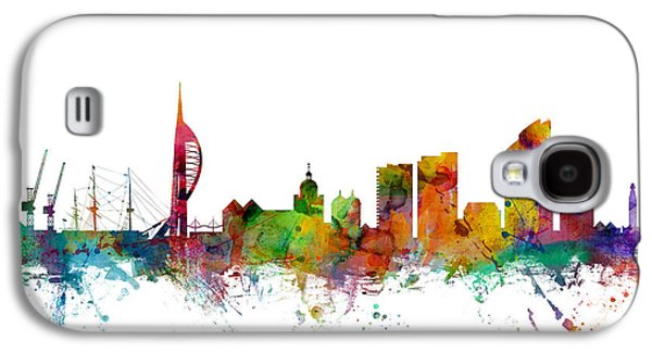 Portsmouth England Skyline Galaxy S4 Case by Michael Tompsett