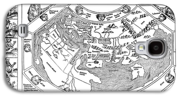 Ptolemaic World Map, 1493 Galaxy S4 Case