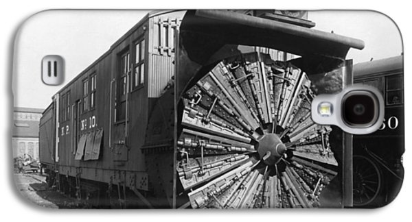 Railroad Rotary Snow Plow Galaxy S4 Case by Underwood Archives