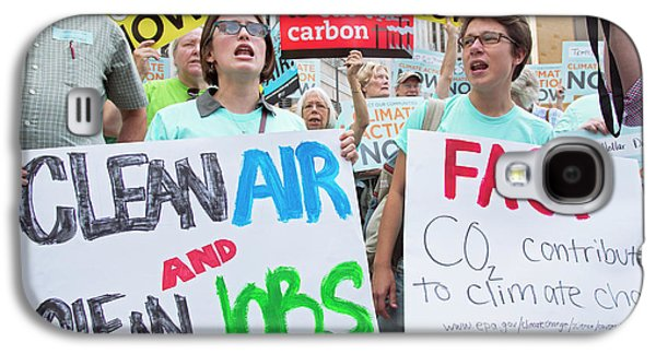 Rally To Support Coal Burning Limits Galaxy S4 Case by Jim West