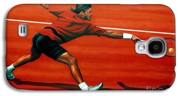Roger Federer At Roland Garros Galaxy S4 Case