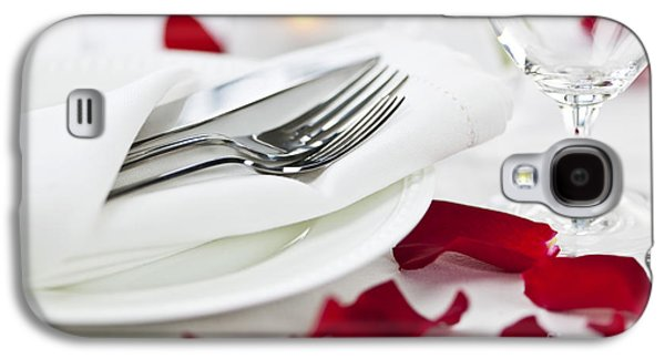Romantic Dinner Setting With Rose Petals Galaxy S4 Case by Elena Elisseeva