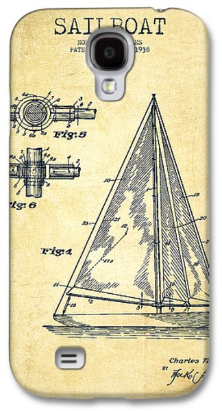 Sailboat Patent Drawing From 1938 - Vintage Galaxy S4 Case