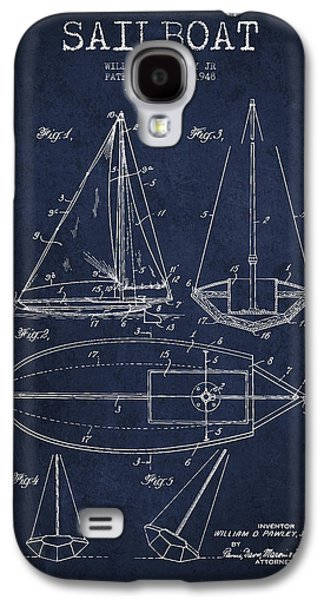 Sailboat Patent Drawing From 1948 Galaxy S4 Case