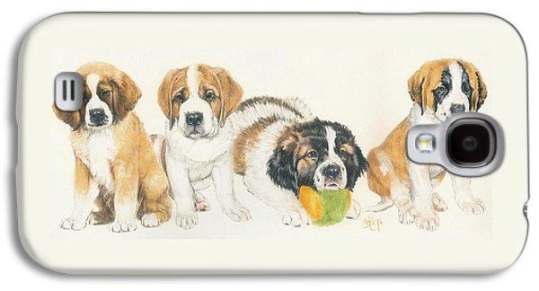 Saint Bernard Puppies Galaxy S4 Case