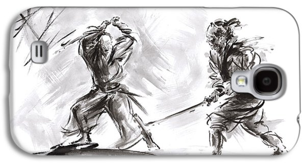 Samurai Fight. Galaxy S4 Case by Mariusz Szmerdt