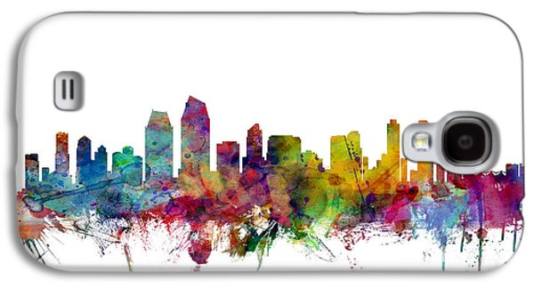 San Diego California Skyline Galaxy S4 Case by Michael Tompsett