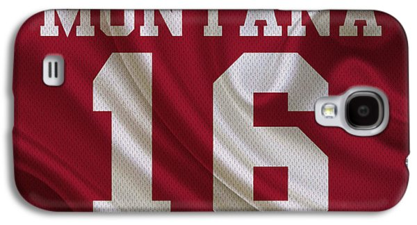 San Francisco 49ers Joe Montana Galaxy S4 Case by Joe Hamilton