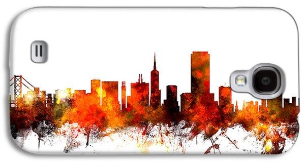 San Francisco City Skyline Galaxy S4 Case by Michael Tompsett
