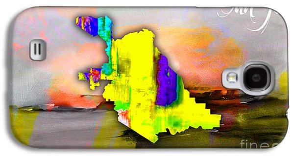 San Jose Map Watercolor Galaxy S4 Case