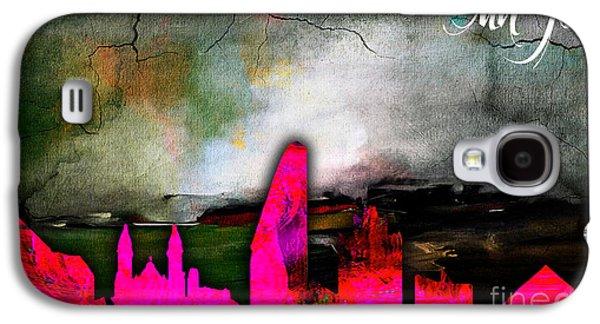 San Jose Skyline Watercolor Galaxy S4 Case by Marvin Blaine