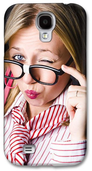 Secretive Nerd Misleading With A Wink Of Deceit  Galaxy S4 Case by Jorgo Photography - Wall Art Gallery