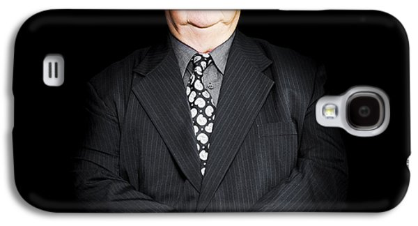 Senior Business Man Isolated On Black Background Galaxy S4 Case