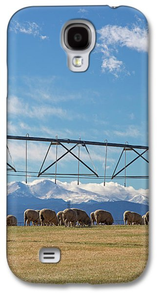 Sheep Grazing Under An Irrigation Boom Galaxy S4 Case