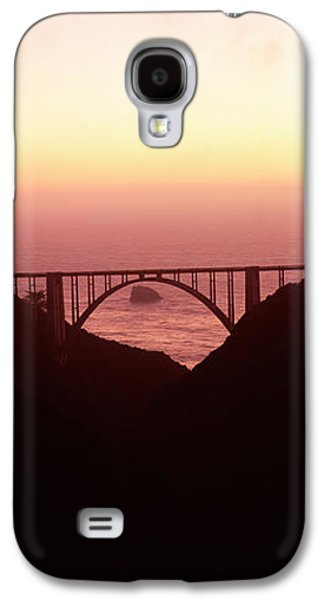 Silhouette Of A Bridge At Sunset, Bixby Galaxy S4 Case