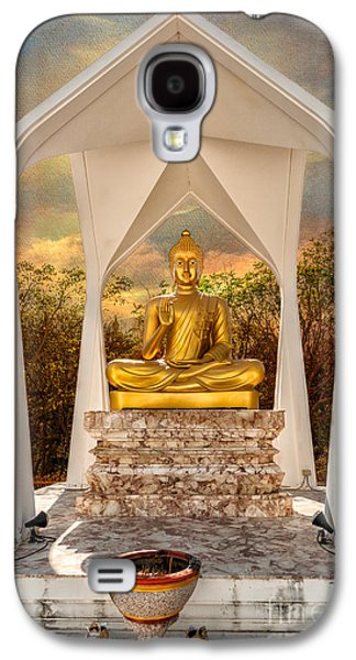 Sitting Buddha Galaxy S4 Case by Adrian Evans
