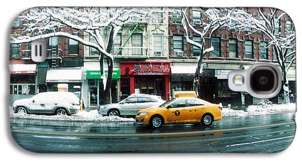 Snow Covered Cars Parked On The Street Galaxy S4 Case by Panoramic Images