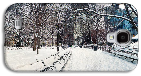 Snow Covered Park, Union Square Galaxy S4 Case by Panoramic Images