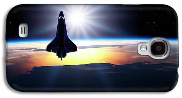 Space Shuttle In Orbit Galaxy S4 Case by Detlev Van Ravenswaay