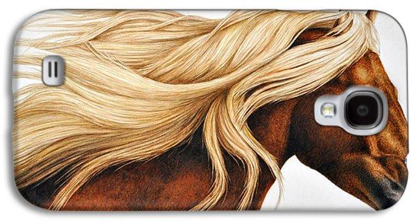 Horse Galaxy S4 Case - Spun Gold by Pat Erickson