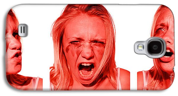 Stress Anger And Sadness Galaxy S4 Case