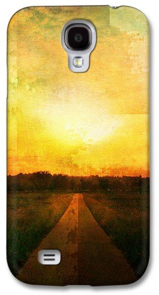 Sunset Road Galaxy S4 Case by Brett Pfister