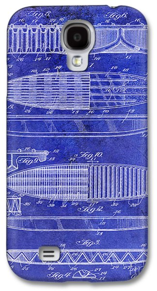 Surfboard Patent Drawing 1950 Blue Galaxy S4 Case
