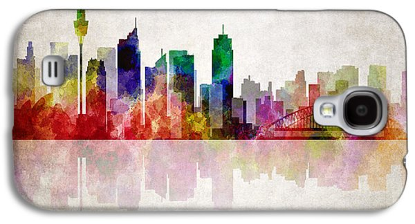 Sydney Australia Skyline Galaxy S4 Case by Daniel Hagerman