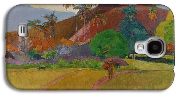 Tahitian Landscape Galaxy S4 Case by Paul Gauguin