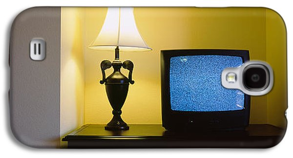 Television And Lamp In A Hotel Room Galaxy S4 Case by Panoramic Images