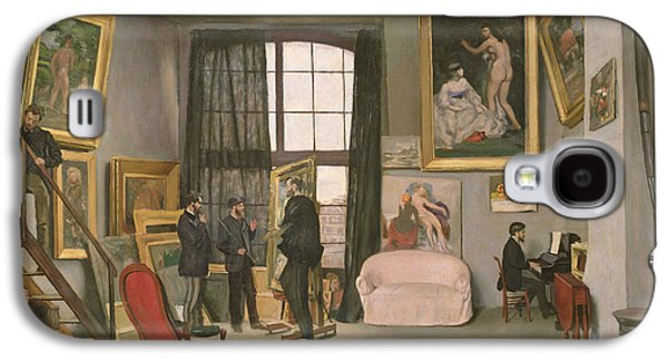 The Artist's Studio Galaxy S4 Case by Jean Frederic Bazille