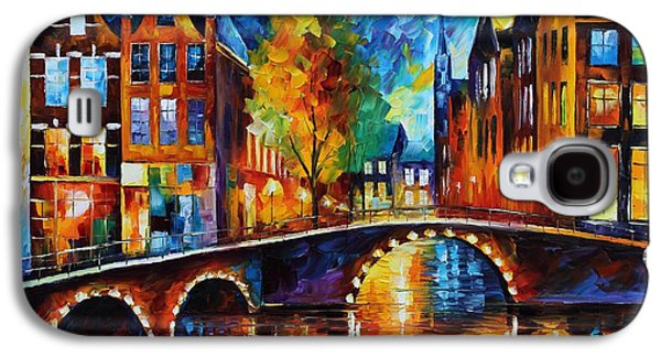 The Bridges Of Amsterdam Galaxy S4 Case by Leonid Afremov