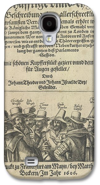 The Gunpowder Plot Conspirators Galaxy S4 Case by British Library