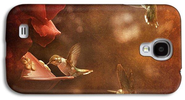 The Hummingbird Feeder Galaxy S4 Case by Cindy Singleton