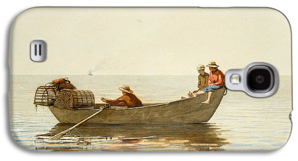 Three Boys In A Dory With Lobster Pots Galaxy S4 Case by Winslow Homer