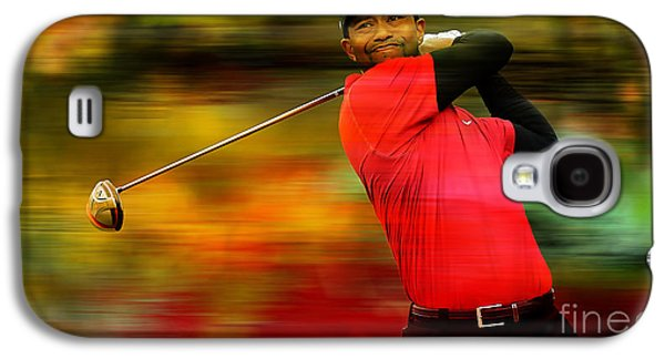 Tiger Woods Galaxy S4 Case by Marvin Blaine