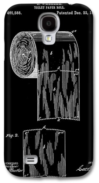 Toilet Paper Roll Patent 1891 - Black Galaxy S4 Case
