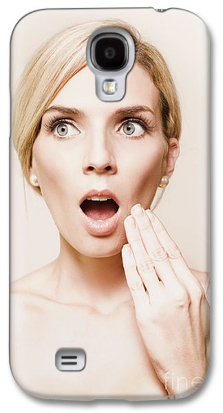 Toned Portrait Of Woman Reacting In Horror Galaxy S4 Case by Jorgo Photography - Wall Art Gallery