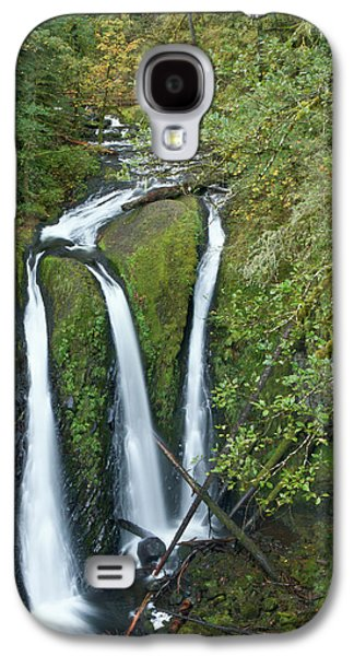 Triple Falls On Oneonta Creek, Columbia Galaxy S4 Case by William Sutton