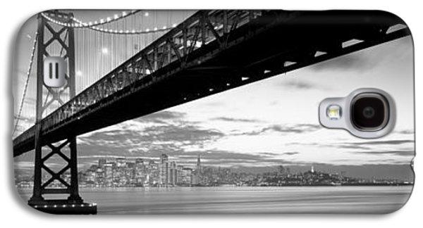 Twilight, Bay Bridge, San Francisco Galaxy S4 Case by Panoramic Images