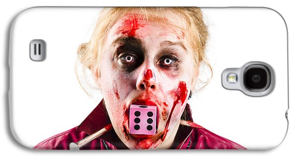 Unlucky Woman With Dice In Mouth Galaxy S4 Case by Jorgo Photography - Wall Art Gallery