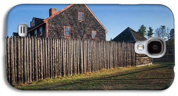 Usa, Maine, Augusta, Old Fort Western Galaxy S4 Case by Walter Bibikow