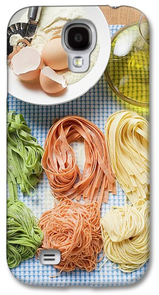 Various Types Of Home-made Pasta With Ingredients Galaxy S4 Case