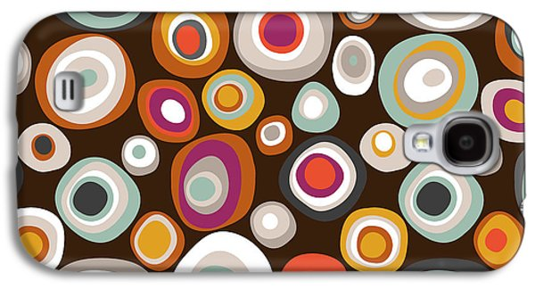 Veneto Boho Spot Chocolate Galaxy S4 Case by Sharon Turner