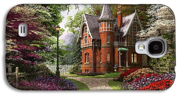Victorian Cottage In Bloom Galaxy S4 Case