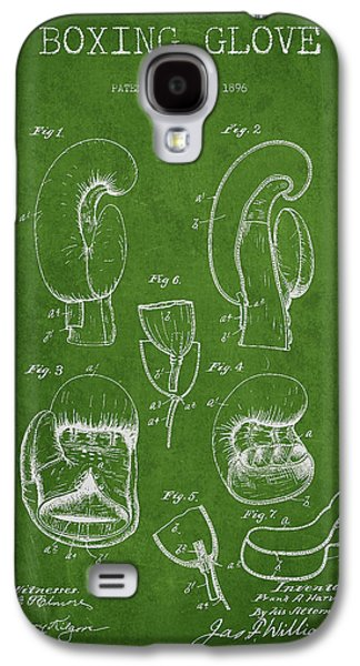 Vintage Boxing Glove Patent Drawing From 1896 Galaxy S4 Case by Aged Pixel